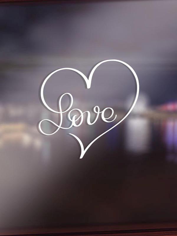 VV018 Vinyl - Italic Love Heart