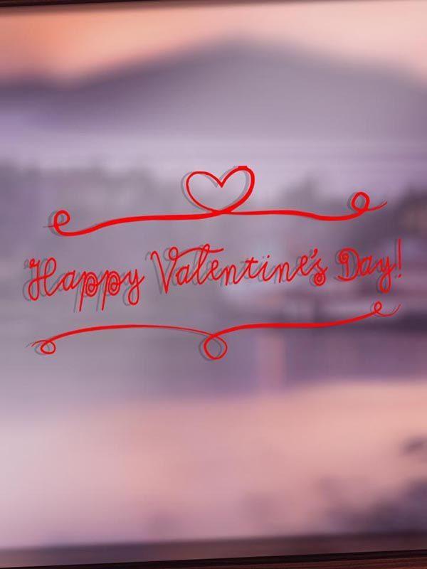 VV027 Vinyl - Long Valentine's Day - Red